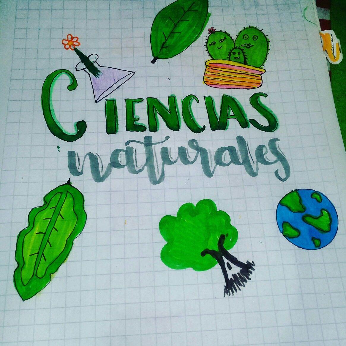 Portada Facil De Ciencias Naturales Caratulas De Ciencias Naturales Dibujos De Ciencias Naturales Portada De Cuaderno De Ciencias