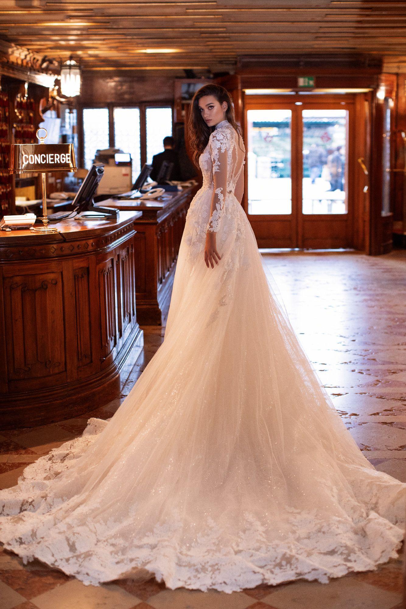 Mirta Royal Collection Millanova Long Train Wedding Dress