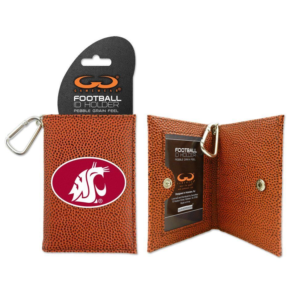 Washington State Cougars Leather ID Wallet w/ Key Ring