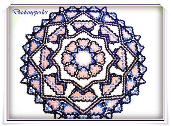 Chef-Deckchen Weben dänische 10P - Rocaille # 8 oder 9 Téléchageable mit Technik, dänische Weben lernen und Symbole gesendet im Pdf-format