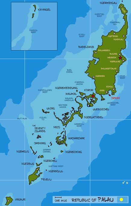 Map Of Palau Ngerulmud 23 World Maps Pinterest Map