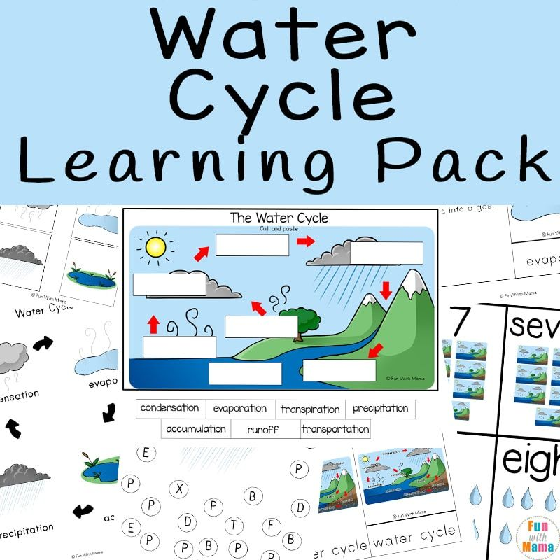 Water Cycle Worksheet Learning Pack in 2020   Water cycle ...