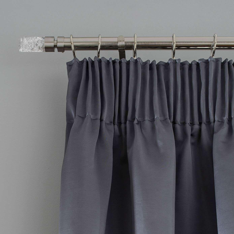 5a Fifth Avenue Venice Grey Pencil Pleat Blackout Curtains