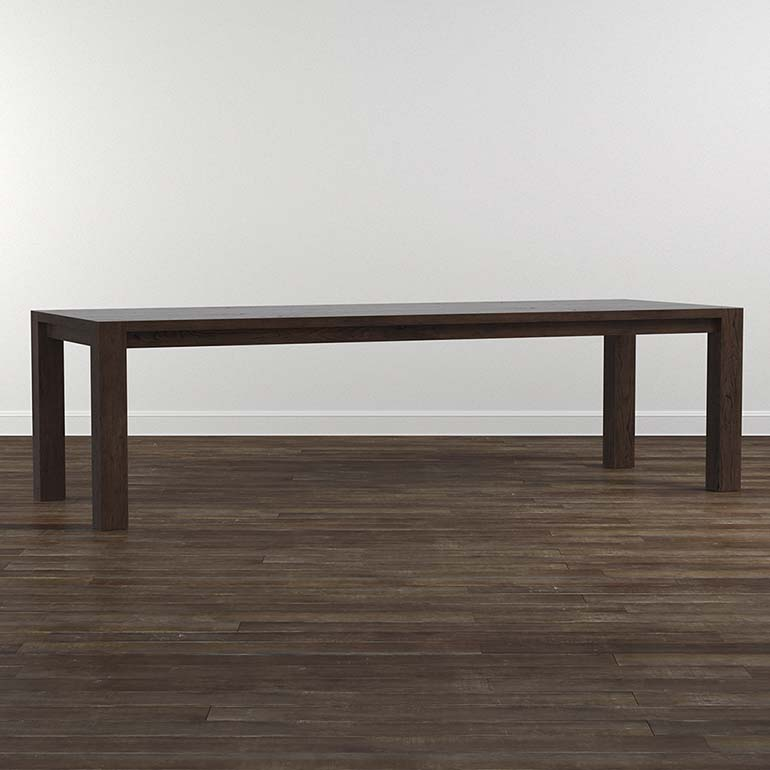 Bench Made Oak 108 Rectangular Dining Table Rectangular Dining