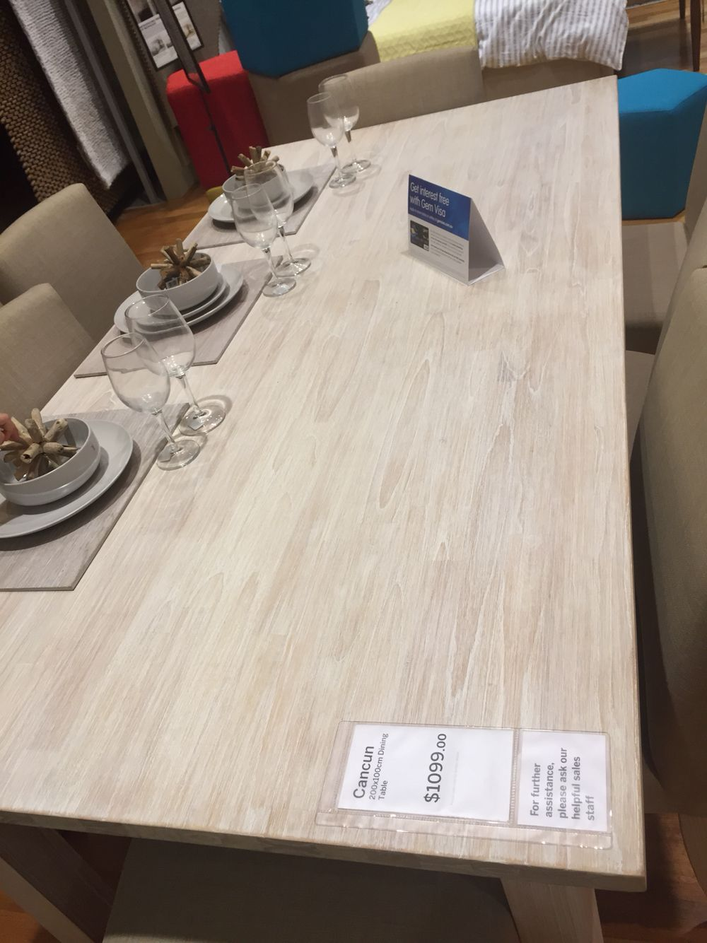 Blonde Wood Dining Table From Freedom Cancun Wood Dining Table