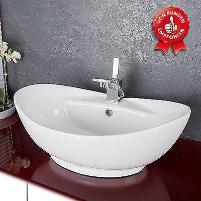 Details zu Design Keramik Waschschale Aufsatzwaschbecken Waschtisch ...