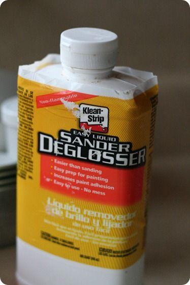 How To Paint Kitchen Cabinets Liquid Sander De Glosser Chalk