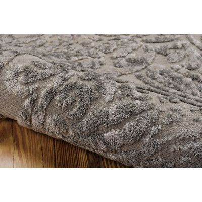 Nourison Graphic Illusions Nickel Rug Grey Woven Wayfair Uk