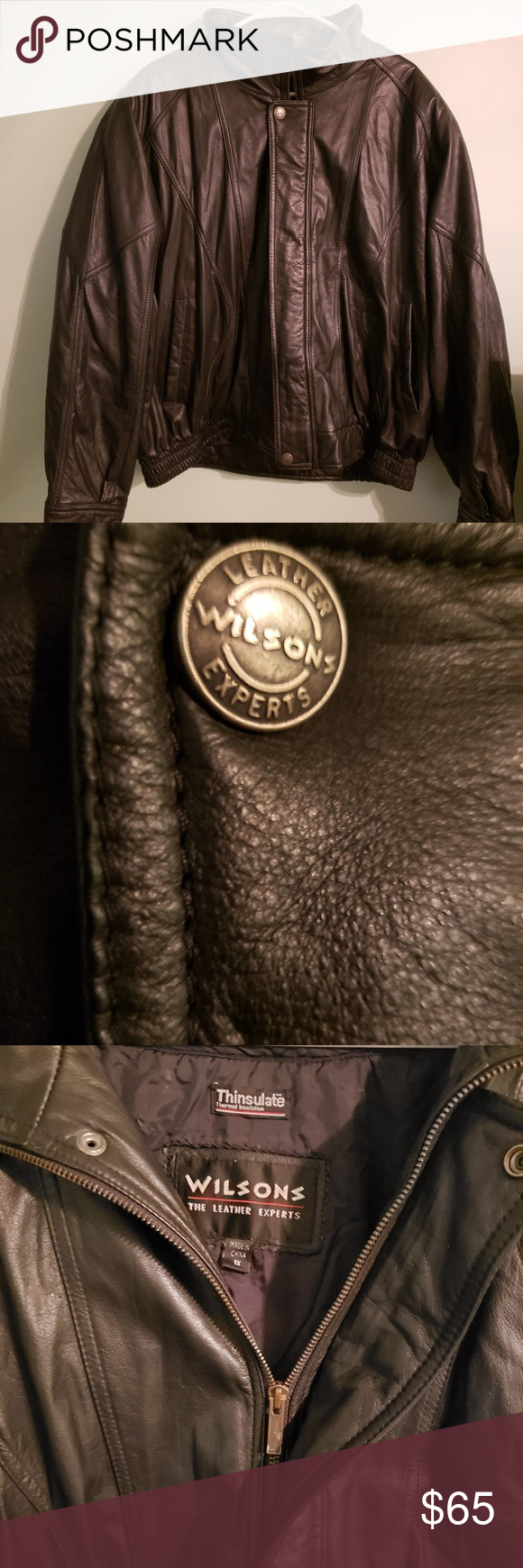 WILSON'S LEATHER BOMBER JACKET Wilsons leather, Leather