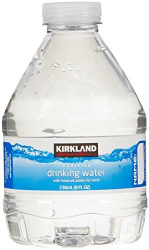 Kirkland Signature Premium Drinking Water 8 Oz 70 Ct More Info Could Be Found At The Image Url Drinking Water Bottle Water Bottle