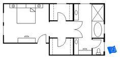 Ensuite Bathroom Walk In Wardrobe master walk through closet to bathroom floor plan - google search
