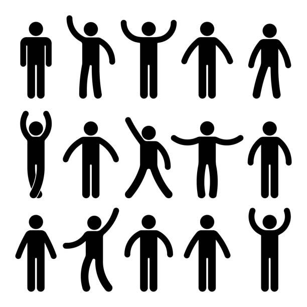 Stick Figure Standing Position Posing Person Icon Posture Symbol Person Icon Stick Figures Pictogram
