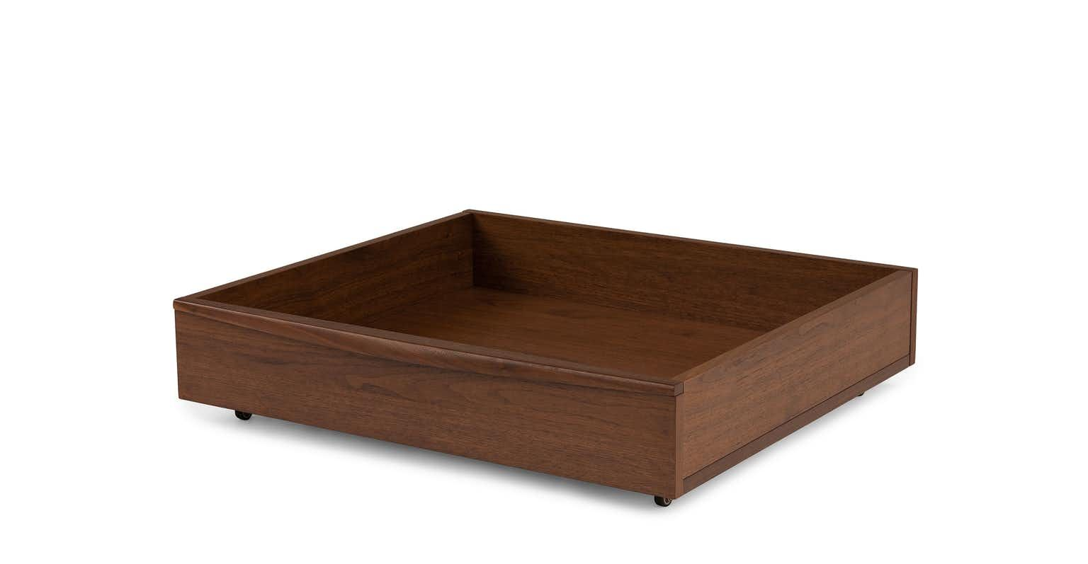 Lenia Walnut Underbed Storage Drawer With Images Under Bed
