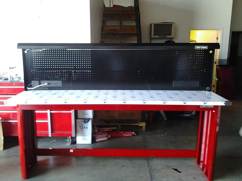 Craftsman Work Bench 8 Feet Stainless Steel Top The Garage Journal Board For The Cabin