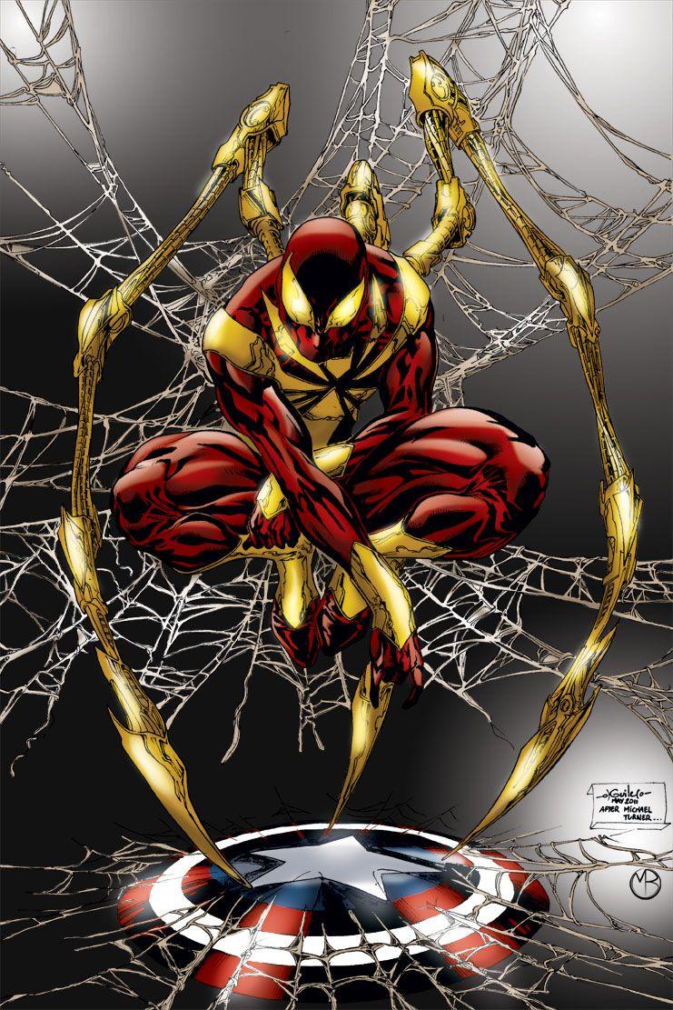 Iron Spider Marvel Wolverine Arana De Spiderman Comics Y Dibujos Animados