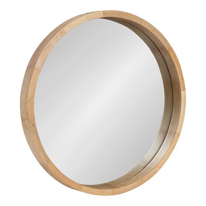 Badezimmerspiegel Holz Rund