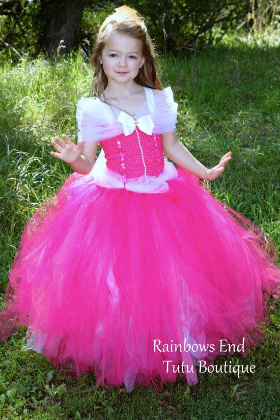 Costumi Maleficent Disney Deluxe Aurora Blue Dress Child Costume 7-8 Bambini