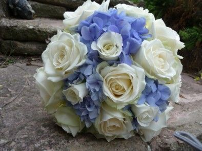 white and blue wedding bouquets - Google Search
