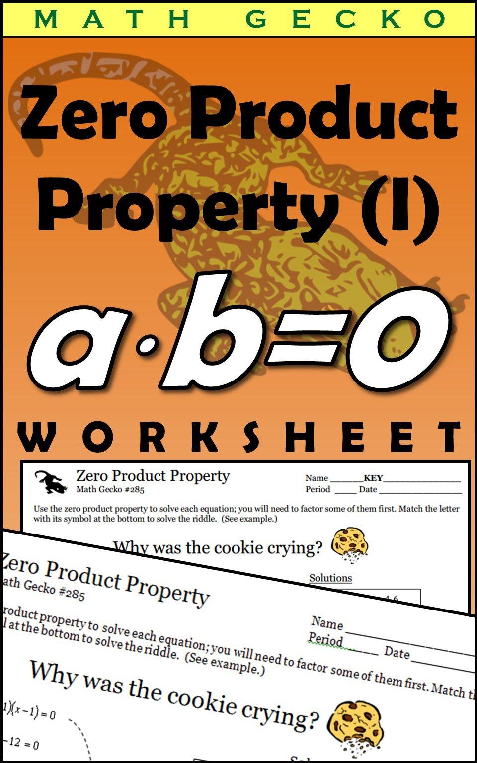Zero Product Property Solving Quadratic Equations High School Fun Quadratics [ 1536 x 960 Pixel ]