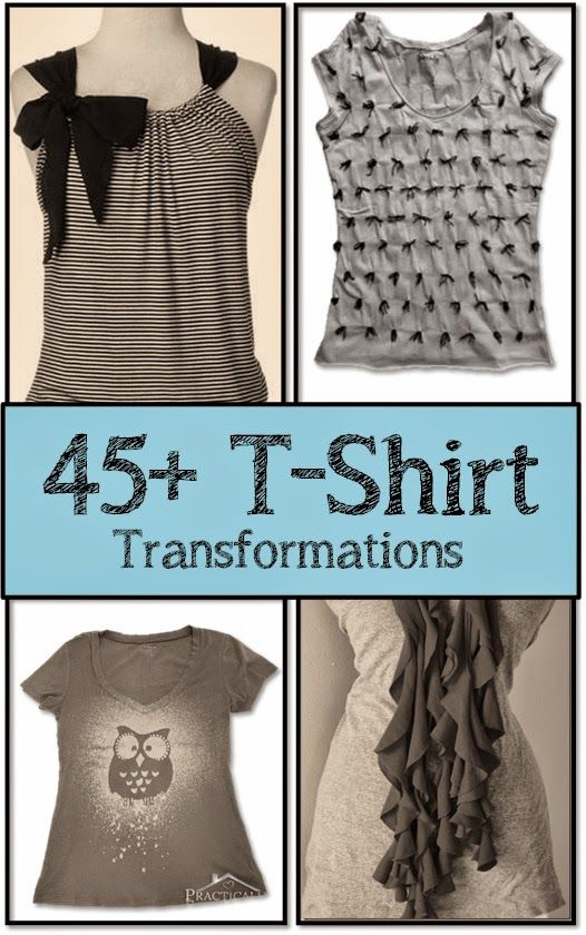 T Shirt Refashion Tutorials