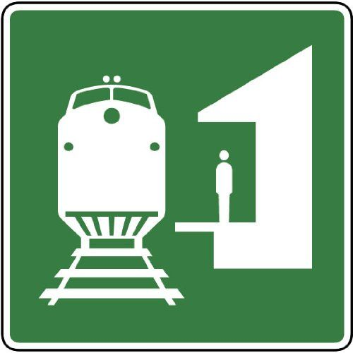 Street Traffic Sign Wall Decals Train Station Symbol Sign 48 Inch