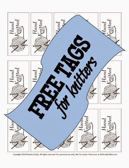 Knitting Labels Handmade : Free knitted by hand tags or labels printable craft