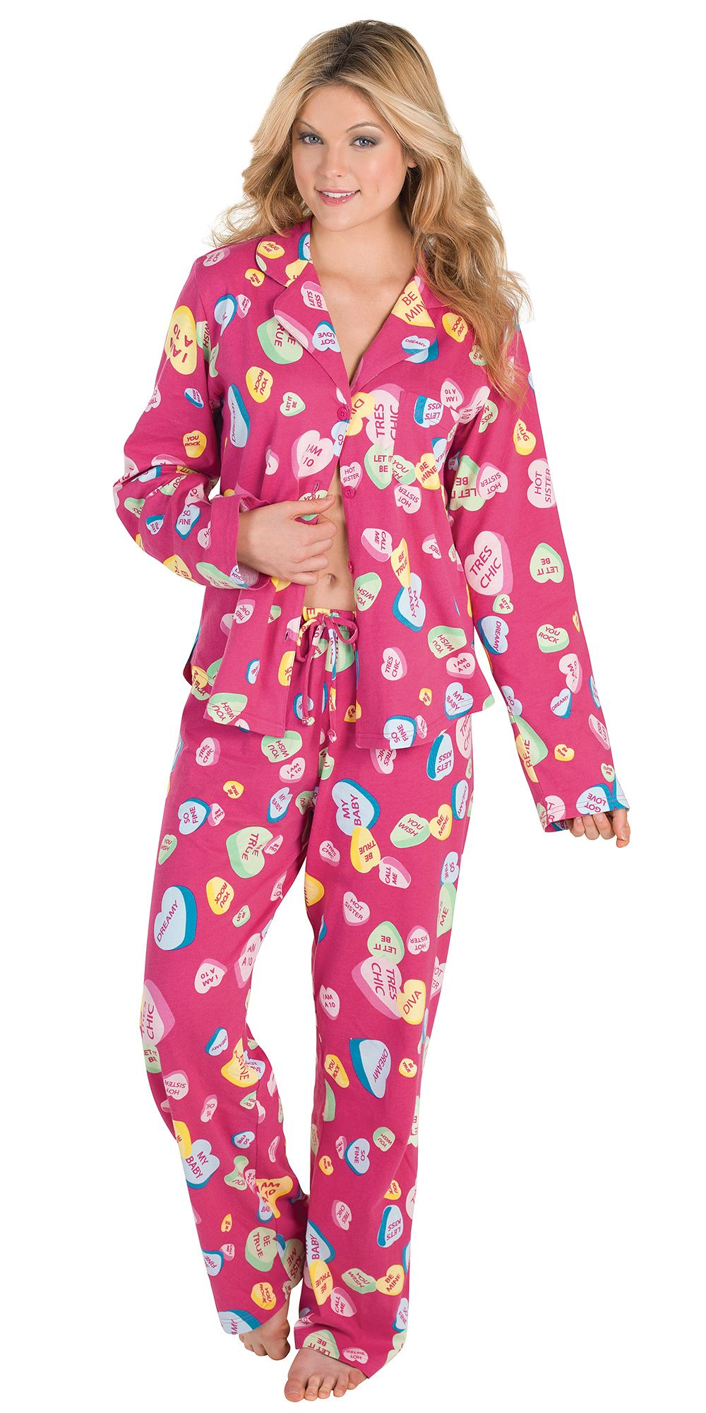 Conversation hearts boyfriend pajamas pajamas women