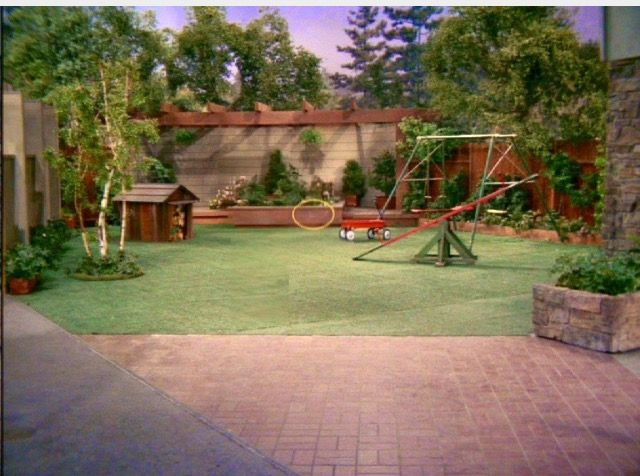 Brady bunch back yard astroturf