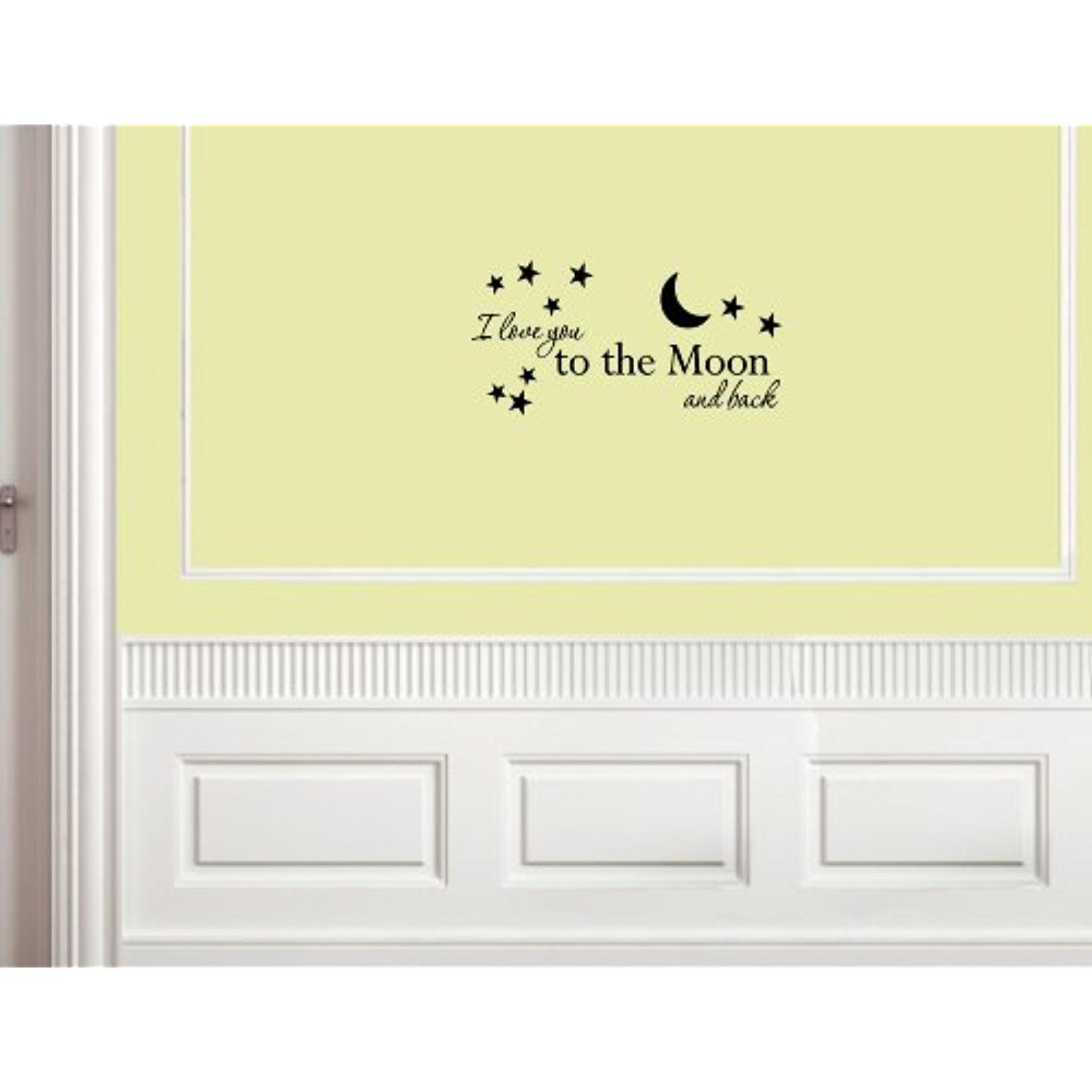 I love you to the moon and back - Vinyl wall decals quotes sayings ...