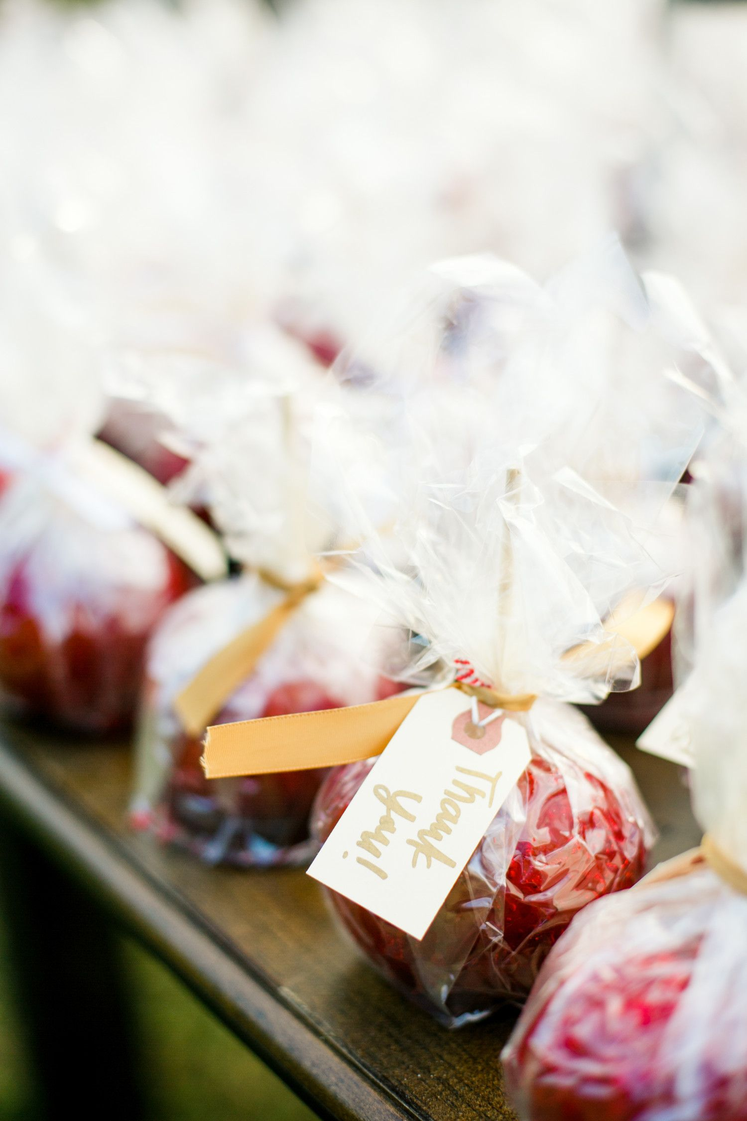Make your own candy apples and wrap them with cellophane and gift ...
