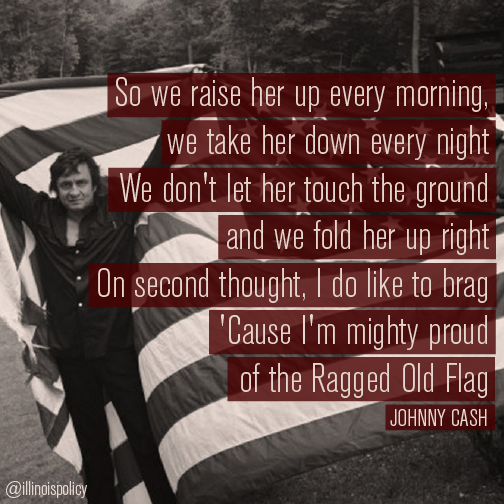 So We Raise Her Up Every Morning And We Bring Her Down Slow Every Night We Don T Let Her Touch The Ground Johnny Cash Quotes Flag Quote Country Song Quotes
