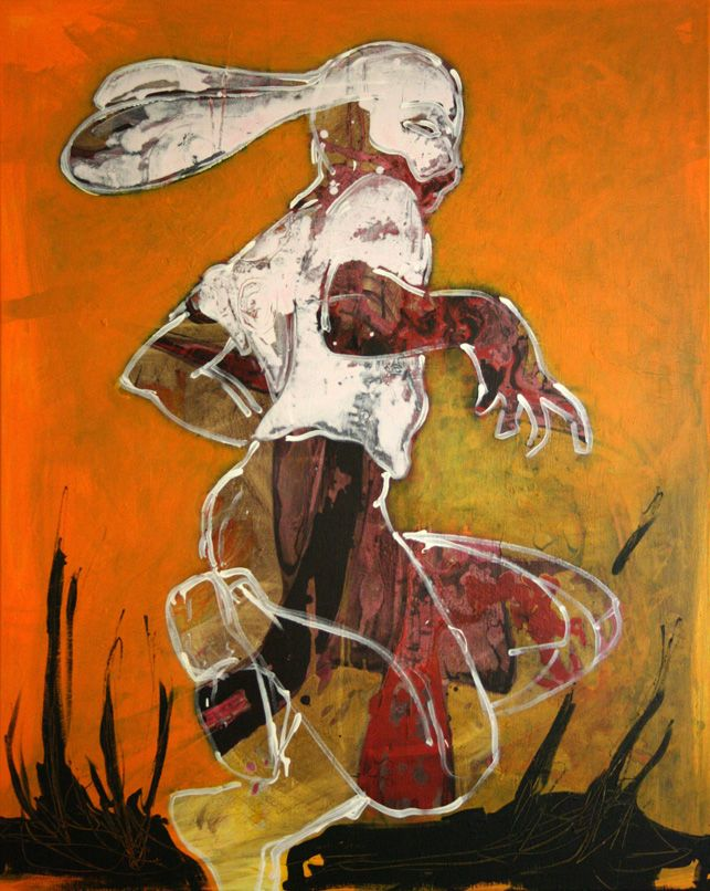 Künstler In Essen treibjagd 125 x 100 cm acryl auf leinwand 2012 gordan nikolic