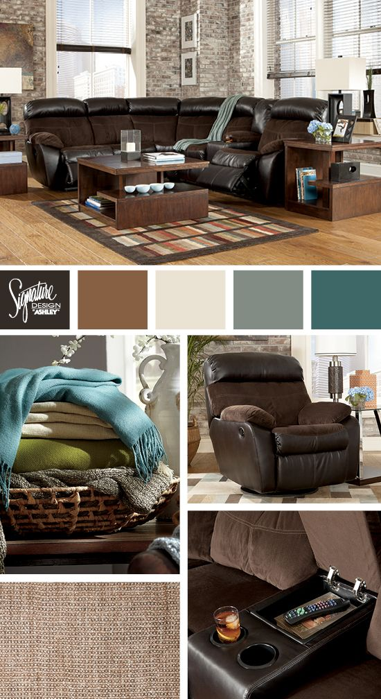 Berneen Sectional  Ashley Furniture  Color combinations