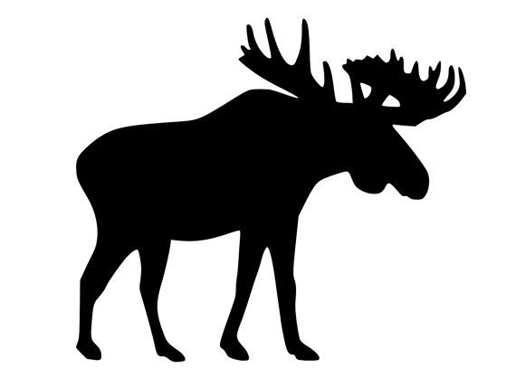 Moose decal moose hunter sticker moose silhouette sticker moose cornhole decal