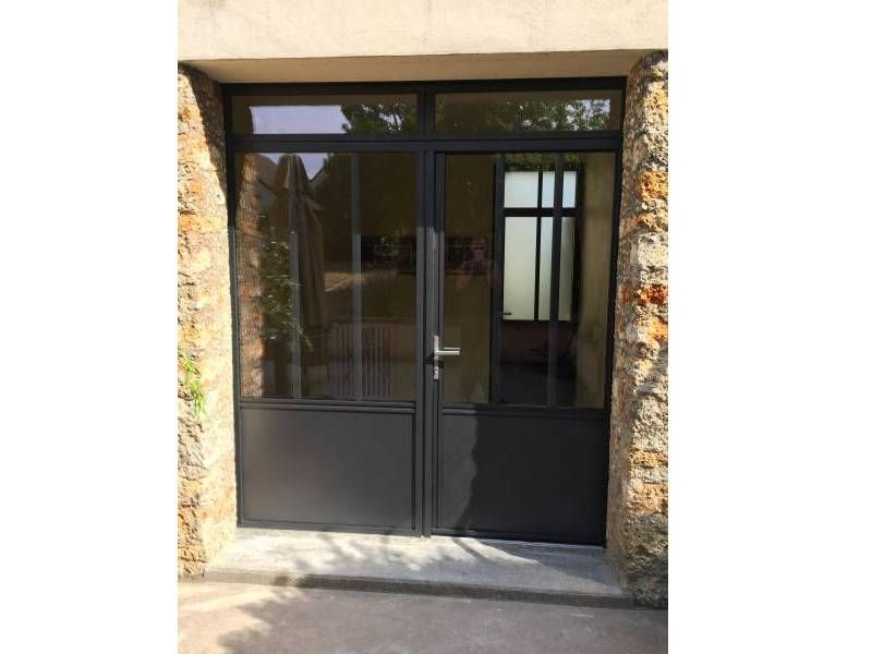Porte entr e yvelines porte alu contemporaine porte entree alu 78 cour en 2018 pinterest for Porte entree alu contemporaine
