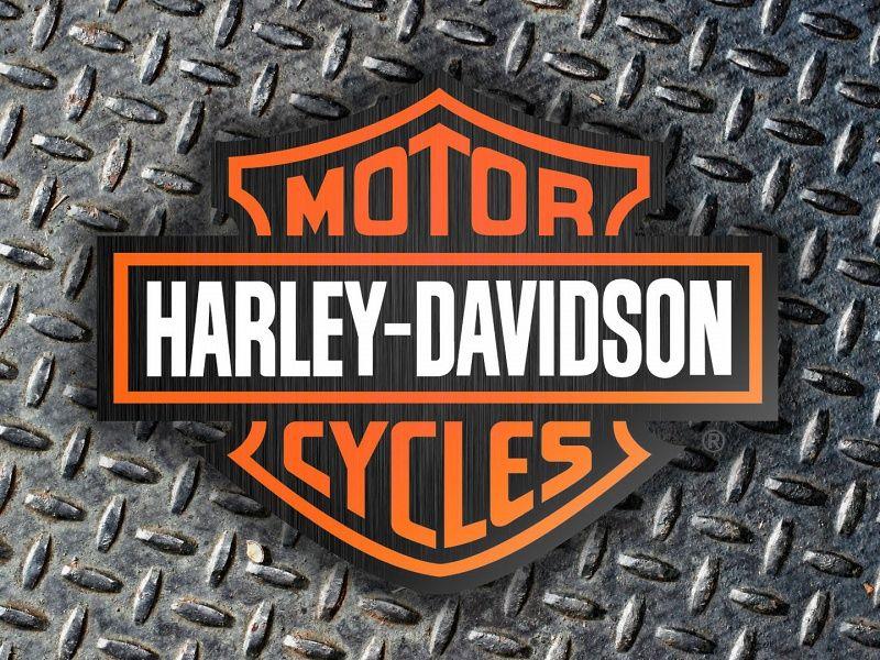 Harley Davidson Logo With Diamond Plate Background Hd Wallpaper On