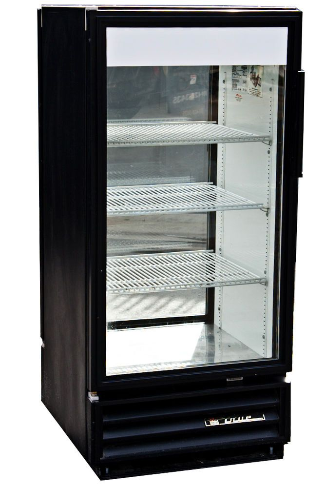 True Gdm 10 Single Door Commercial Refrigerator With Double Sided Glass Doors Glass Door Refrigerator Single Doors Glass Door