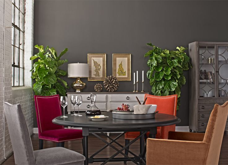 Sherwin Williams Urban Bronze Paint Color Sw7048 Dining Room Furniture Collections Grey Dining Room Dining Room Decor Bronze decorations for dining room