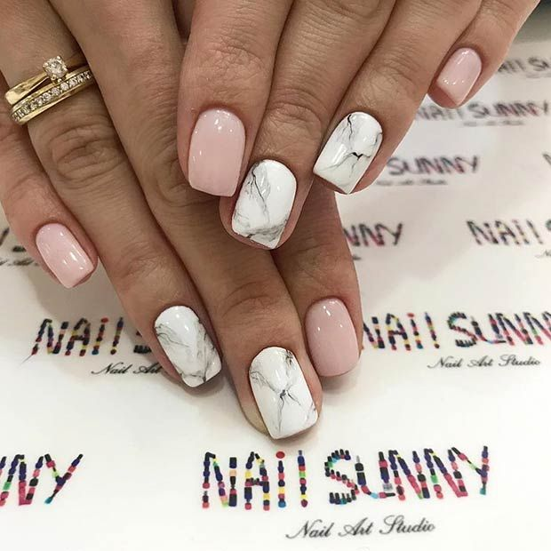 43 Jaw-Dropping Ways to Wear Marble Nails | Page 3 of 4 | StayGlam