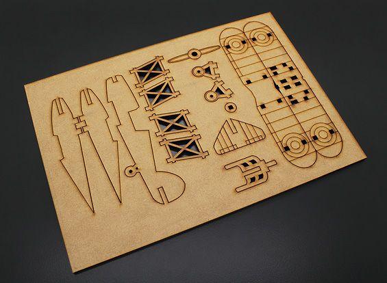biplane laser cut wood model kit - Laser Cut Wood