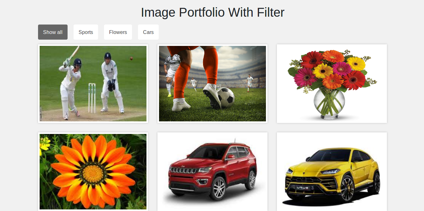 Image Gallery With Filter Using Bootstrap And Jquery (With