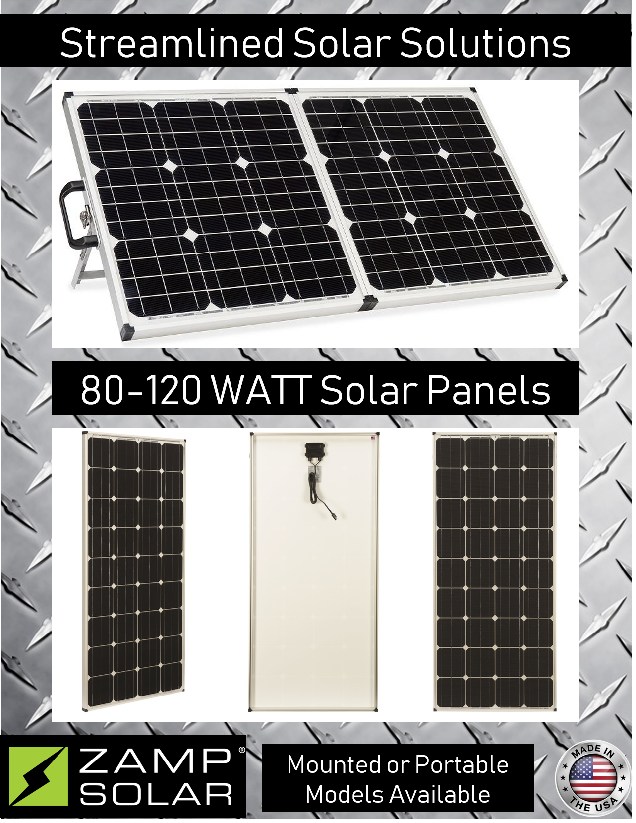 Hop Off The Grid For Good With Energy Efficient Solar Technology Mount These Fixed Panels Or Fold Out A Porta Solar Panels Solar Power Panels Solar Solutions