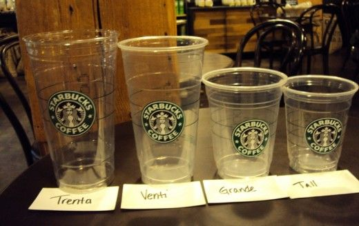 The Starbucks cup sizes that aren't on the menu
