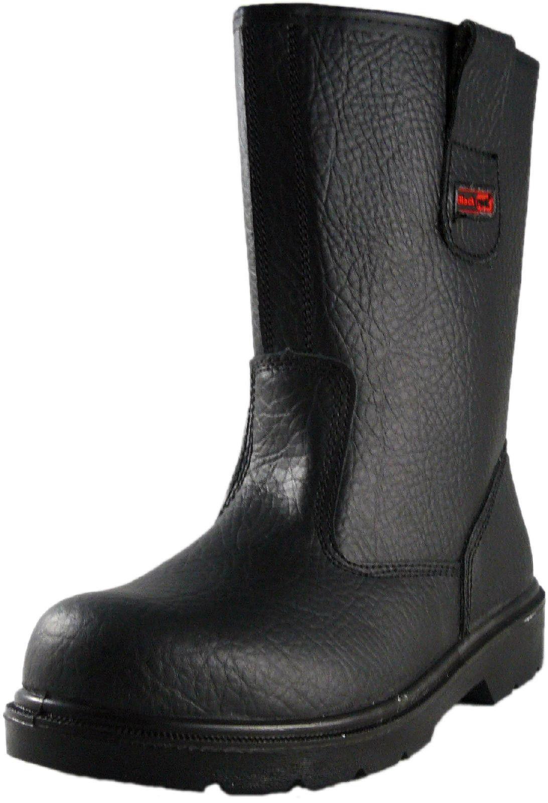 87e70f8a2d0 Blackrock Fur Lined Steel Toe Rigger Work Boots Black / Tan Mens ...