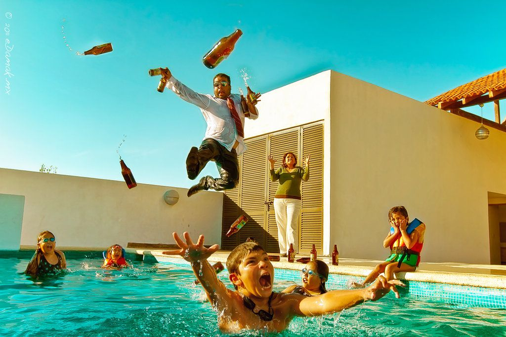 The Pool Party Takeover - love this photo, too funny