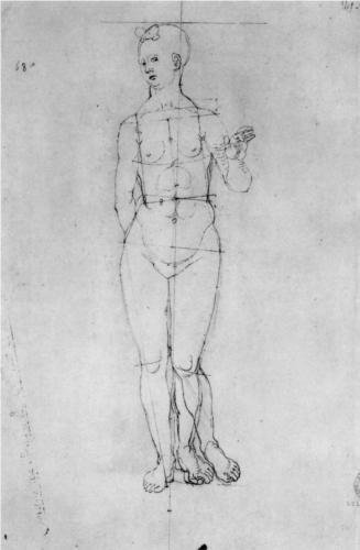 Female Nude - Alberto Durero