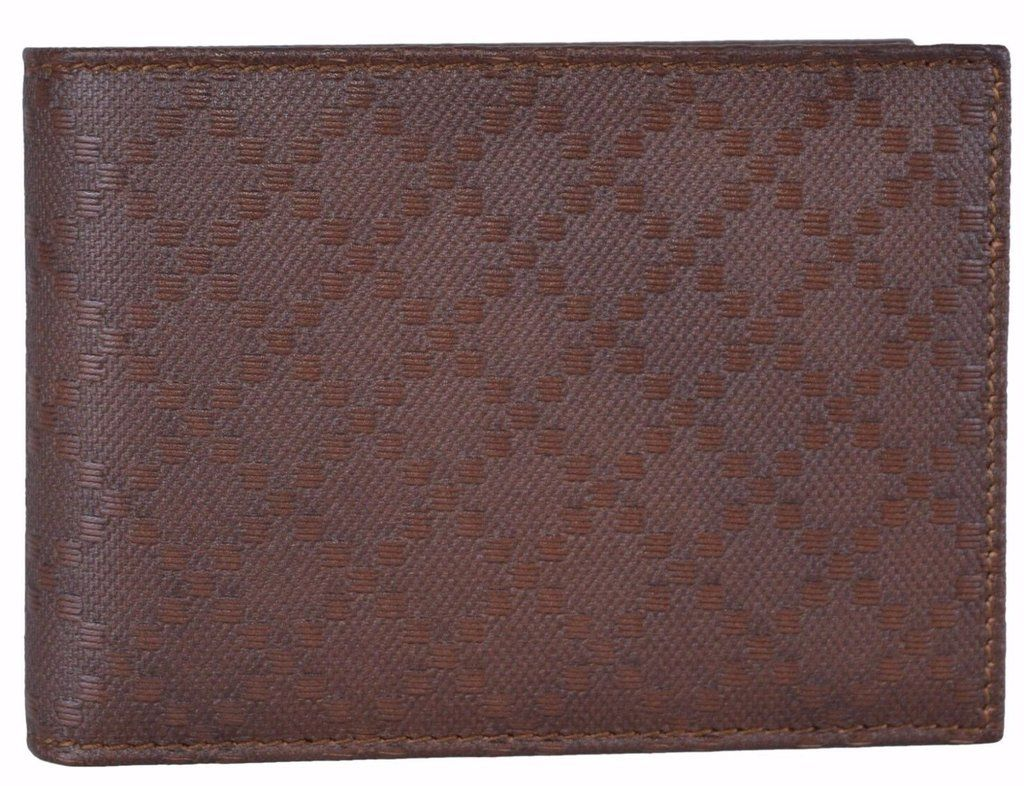 512b9e7a576 NEW Gucci Men s 292534 Brown Soft Leather Diamante W Coin Large Bifold  Wallet