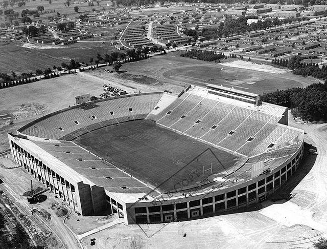 An Aerial Shot Of Spartan Stadium 1948 Michigan State Football Michigan State Spartans Football Michigan State Spartans