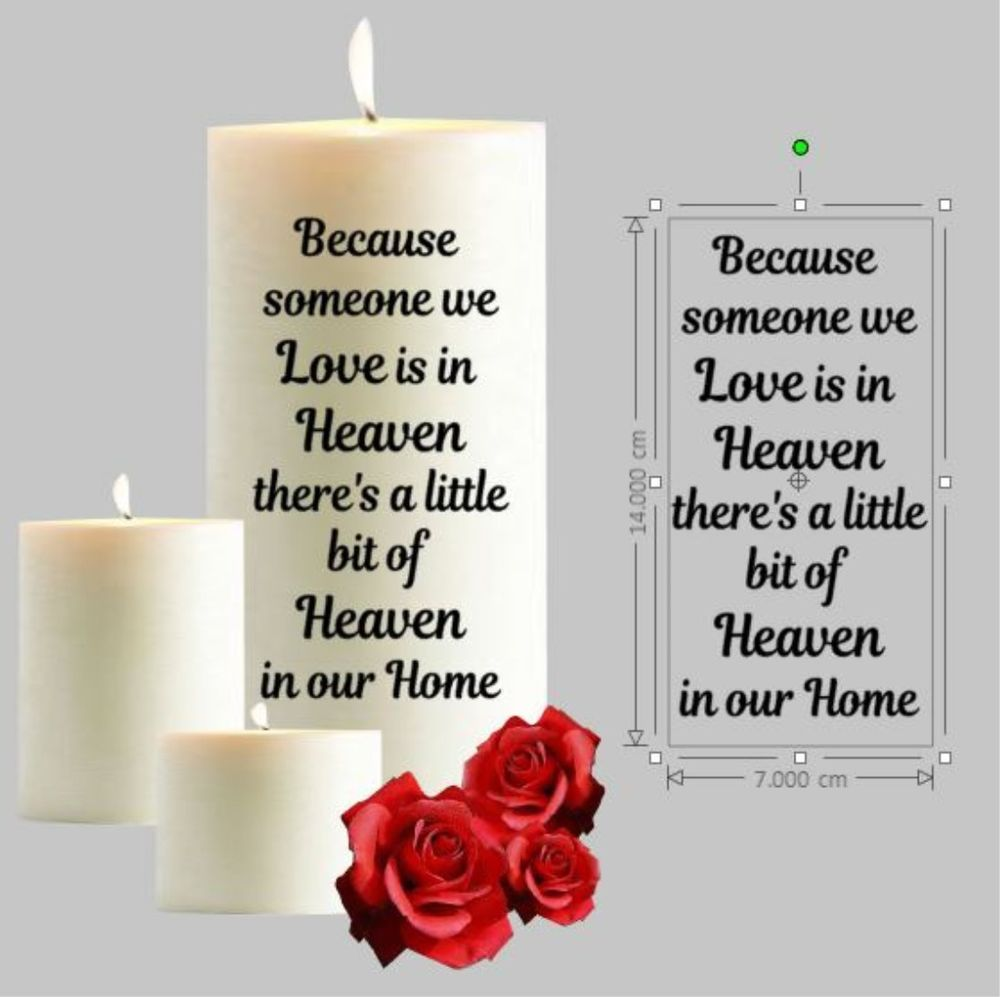 Download Details about Because someone we Love is in Heaven Sticker ...