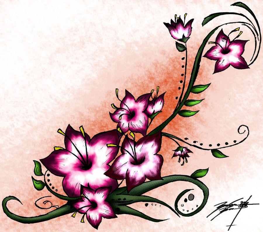 Photo of tatouages d'arbres en fleurs | tatouages d'arbre de fleur de cerisier pour les femmes. petite cerise t …